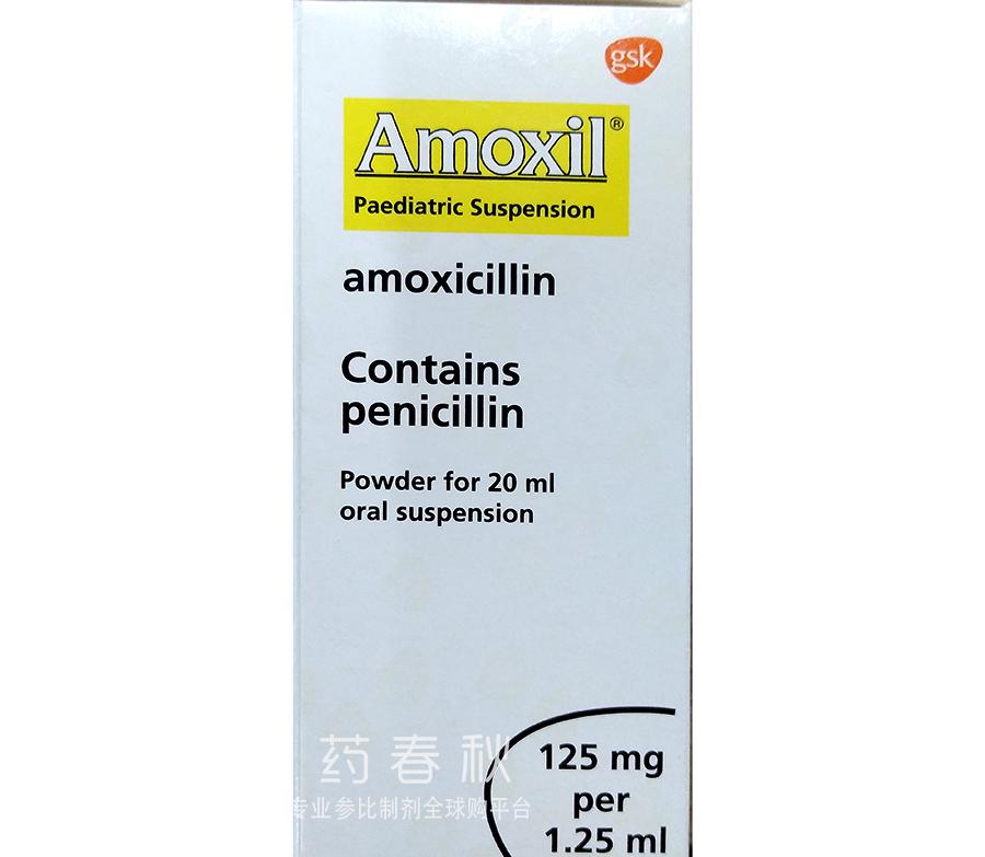 Amoxil paediatric suspension